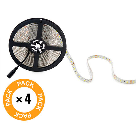 Pack 4 Tira LED 300 X SMD5050 12VDC IP65