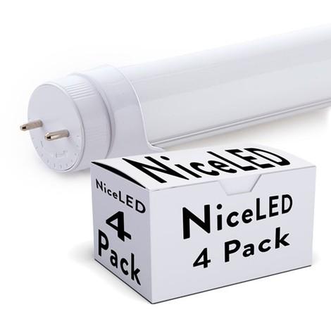 Pack 4 Tubo LED 1200Mm Cabeza Rotatoria Conexión Un Extremo 18W 1673Lm 30.000H | Blanco Frío (TC-T8RDDG18W-O-CW-PK4-AP)