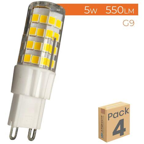 Pack 4x Bombilla LED G9 5W 550LM Regulable A++ | Blanco Frío 6500K - Pack 4 Uds. - Blanco Frío 6500K