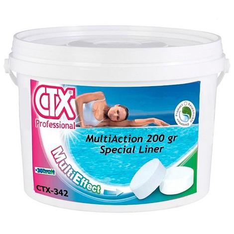 Pack 4x Cloro multiacción especial liner tabletas sin cobre 200g CTX-342 5kg - Cod: 31102