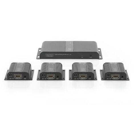 Pack 4x1 de rallonges Hdmi sur câble Ethernet Cat6 Cat6a Cat7 jusqu'à 50m Ds-55303