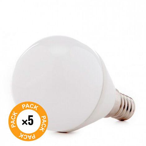 Pack 5 Bombilla LED E14 2835SMD 5W 410Lm 30.000H