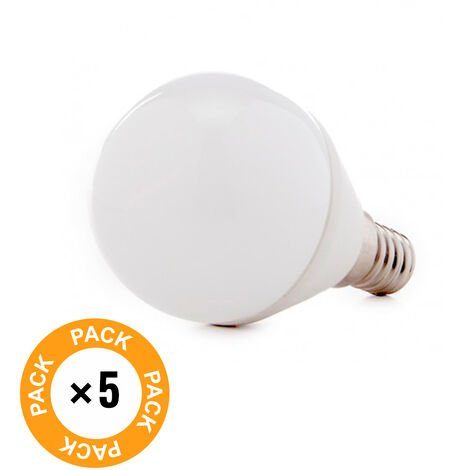 Pack 5 Bombilla LED E14 2835SMD 5W 410Lm 30.000H