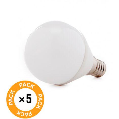 Pack 5 Bombilla LED E14 2835SMD 7W 520Lm 30.000H