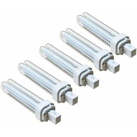 Pack 5 Bombillas Aigostar 183653 LED PLC 2U 15W Bombilla LED Maiz G24 6400K [Clase de eficiencia energética A+] [Clase de eficiencia energética A+]
