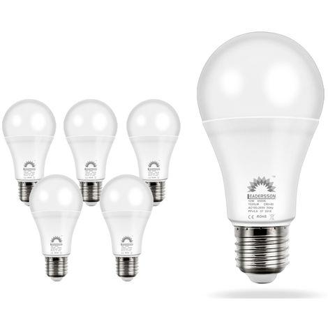 Pack 5 Bombillas LED Bajo Consumo AVILA A60 12W con 850 Lm. · 6500K Blanco Frío