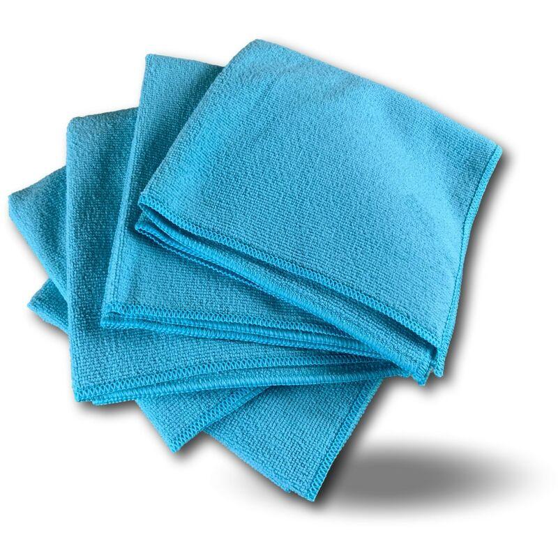 Pack 5 chiffons microfibre | Lavants dépoussièrants | Bleu | Super absorbants - Quantité x 1 - Pack 5 chiffons - Bleu