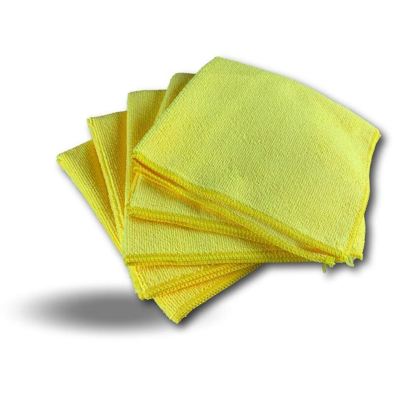 Pack 5 chiffons microfibre | Lavants dépoussièrants | Bleu | Super absorbants - Quantité x 1 - Pack 5 chiffons - Jaune