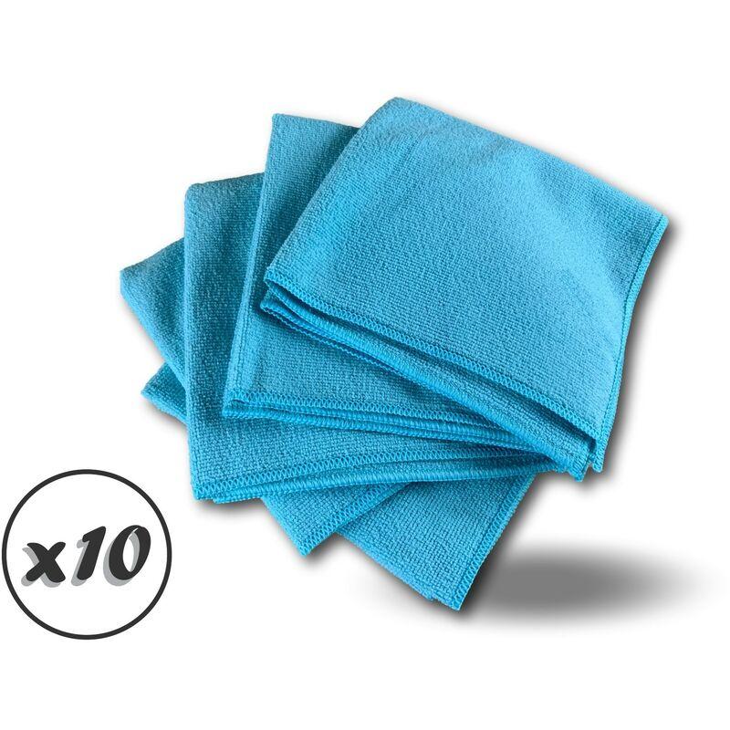 Pack 5 chiffons microfibre | Lavants dépoussièrants | Bleu | Super absorbants - Quantité x10 - Pack 5 chiffons - Bleu