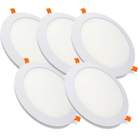 Pack 5 Downlight LED Redondo Extrafino Encastrar ECOMAX 20W 4500K Blanco Neutro