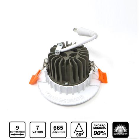 Pack 5 Downlight LED Redondo SUNT 7W con 665 Lm. 4500K Blanco Neutro