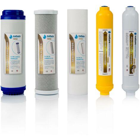 Pack 5 Filtros Osmosis Inversa
