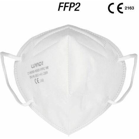 Pack 5 Mascarillas protectora facial KN95 Protección Fpp2