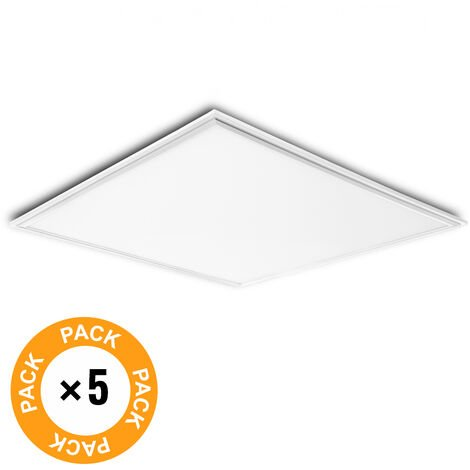 Pack 5 Panel LED Marco Blanco 595X595X12Mm 36W 3623Lm 30.000H