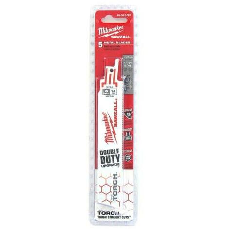Pack 5 saw blades saber Torch bi-metal / co 150mm MILWAUKEE SAWZALL 14 TPI 48,005,782