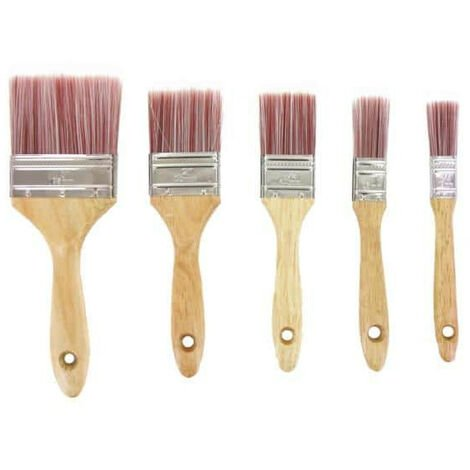 Pack 5 synthetic brushes with rounded ends