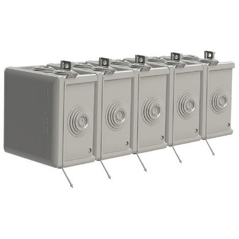 pack 5 und caja estanca 7 conos 83x83x50 t/presión