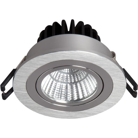 PACK 5 X EMPOTRABLE LED 9W CIRCULAR 4500K ORIENTABLE ALUMINIO