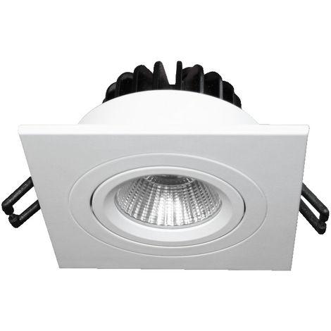 PACK 5 X EMPOTRABLE LED 9W CUADRADO 4500K ORIENTABLE BLANCO