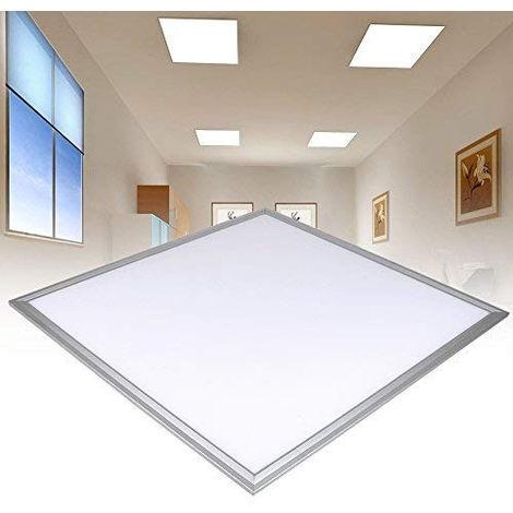 Pack 5 x Panneau LED 60x60cm Ultraslim Plafonnier Luminaire Carré pour Maison Bureau ou But Commercial 48W 3840lm Blanc Froid
