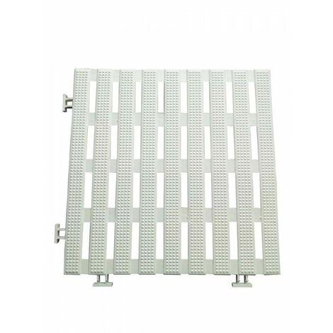Pack 50 dalles caillebotis anti-dérapants 30 cm carré blanc (50 pièces) pvc étanche pour tous milieux humides