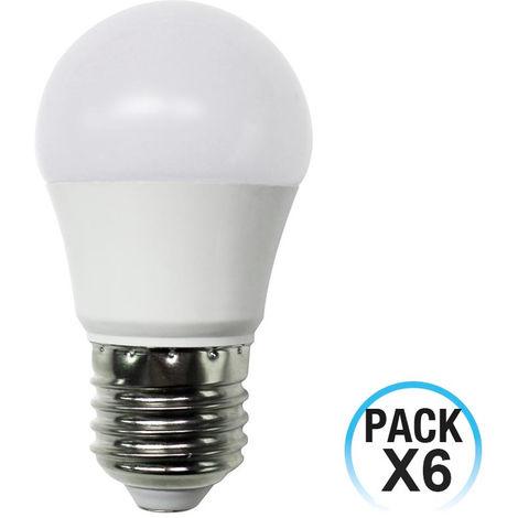 Pack 6 Bombillas LED Esférica E27 6W Equi.40W 470lm 15000H