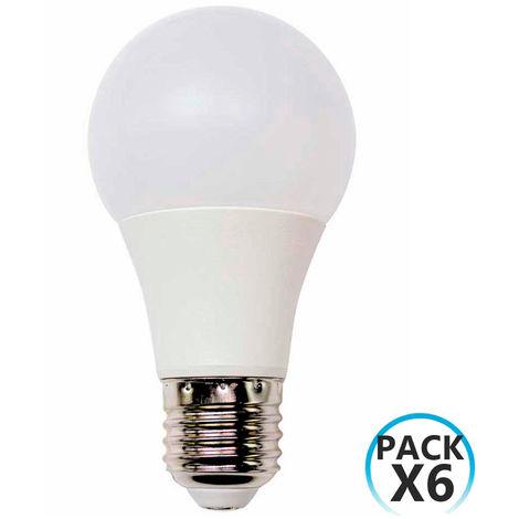 Pack 6 Bombillas LED Estándar E27 9W Equi.60W 806lm 15000H