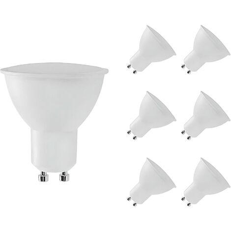 Pack 6 Bombillas LED GU10 Spotlight 8W Equi.60W 700lm Raydan Hom