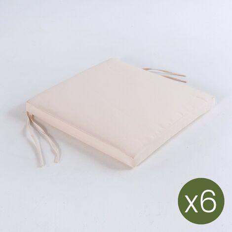 Pack 6 Cojines Para Sillas De Jardin Tamano 44x44x5 Cm