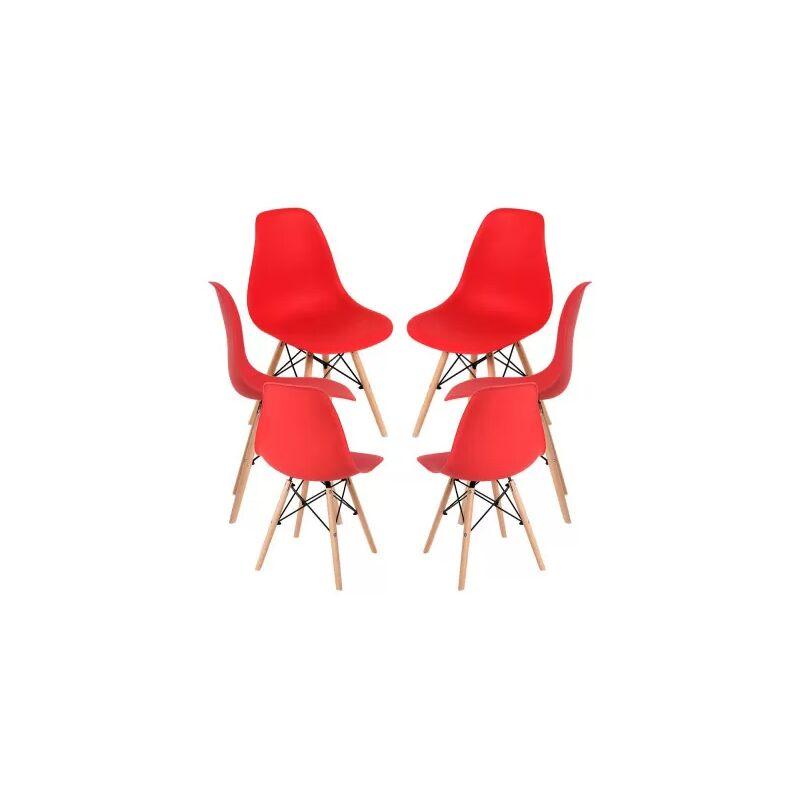 Packs Sillas Comedor - Pack 6 Sillas Tower Basic - Rojo