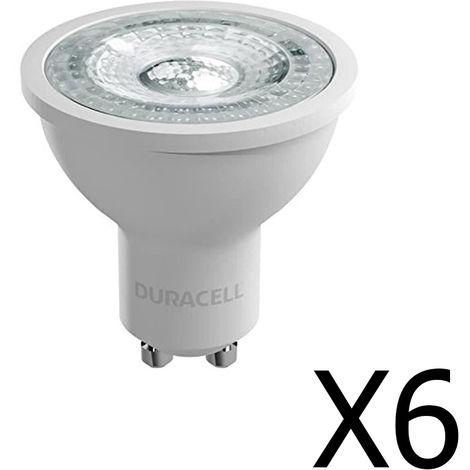 Pack 6 spots Duracell LED GU10 4,4 W / 50W