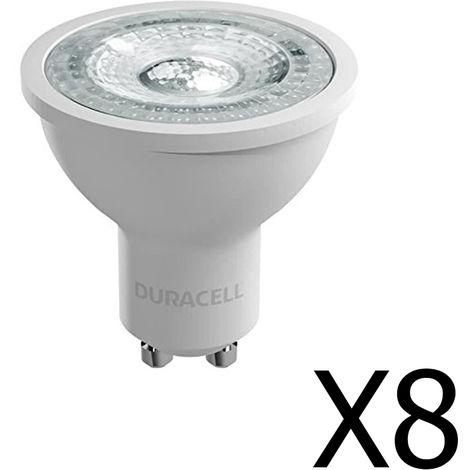 Pack 8 spots Duracell LED GU10 4,4 W / 50W