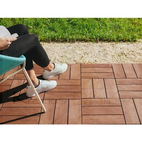 Pack 9 Baldosas Clickfloor Madera Lop 30x30cm Marron