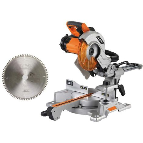 Pack AEG electric mitre saw 2000W 254mm PS 254 L - radial saw blade 80 teeth 3.2x254mm 4932430472