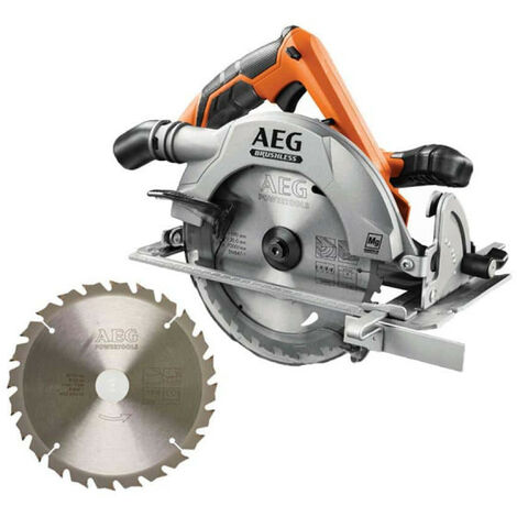 Pack AEG scie circulaire brushless 18 V 190mm Li-ion BKS18BL-0 - lame scie circulaire 2.2x190mm