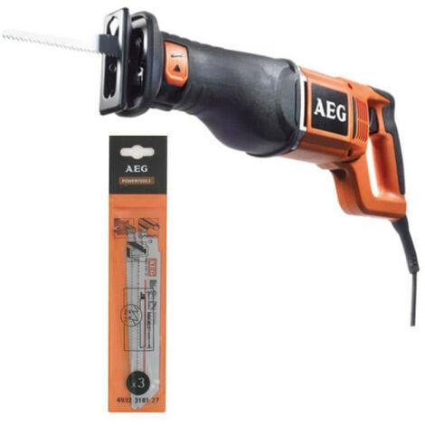 Pack AEG scie sabre électriques 1300W US 1300 XE - 3 lames scie sabre