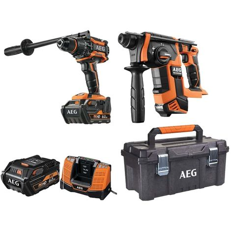 Pack AEG SDS Plus Brushless Hammer Drill 18V BBH18BL-0 - 18V Brushless Percussion Drill BSB18BL-602C - Storage case 53.5