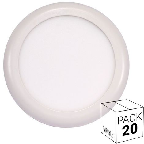 Pack ahorro 20 downlight LED 18W ajustable para superficie y empotrable
