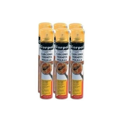 Pack Ahorro 6x Spray CORPOL 500ml tratamiento para madera anti carcoma, termita y polilla