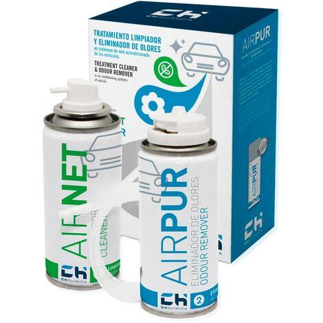 Pack AIRNET + AIRPUR auto limpia y elimina olores aire acondicionado vehiculos