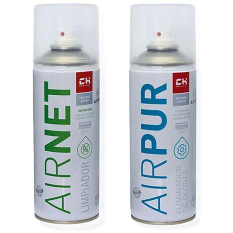 Pack AIRNET + AIRPUR spray limpia y elimina olores aire acondicionado 400 ml
