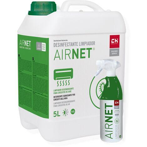 Pack AIRNET garrafa + pulverizador para desinfección de circuitos de aire acondionado