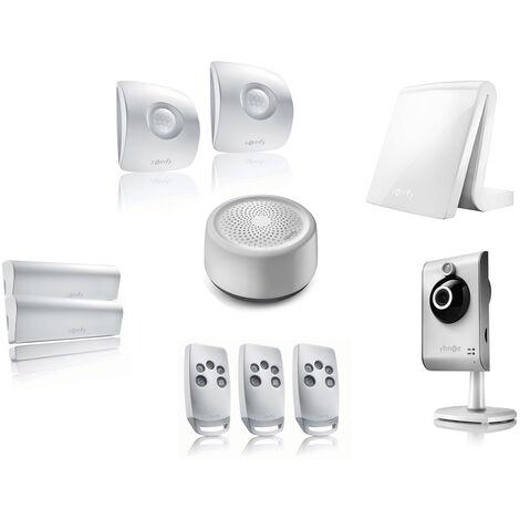 pack alarme connect e somfy tahoma avec cam ra kit 1. Black Bedroom Furniture Sets. Home Design Ideas