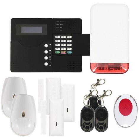 Pack alarme IP09 GSM avec sirène flash autonome - Iprotect Evolution - Noir