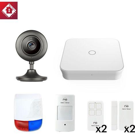 Pack Alarme New Deal Starter Vision: Système d alarme NEW DEAL ProL15 + 1 Caméra intérieure + 6 Accessoires