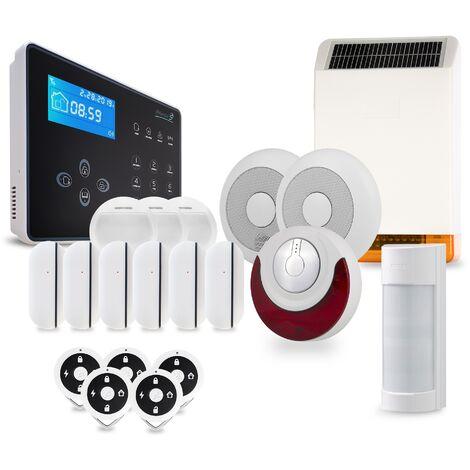 Pack alarme sans fil NEOS Atlantic'S - Transmission des alertes sur ligne fixe ou mobile - Tolérance animaux domestiques - Sirène intégrée 105dB NEOS KIT 12