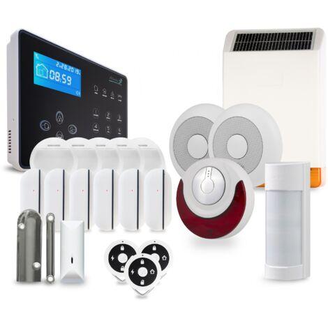 Pack alarme sans fil NEOS Atlantic'S - Transmission des alertes sur ligne fixe ou mobile - Tolérance animaux domestiques - Sirène intégrée 105dB NEOS KIT 13