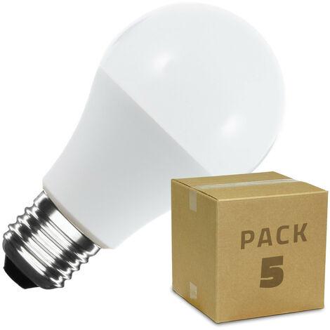 Pack Ampoules E27 LED A60 6W (5 Un)