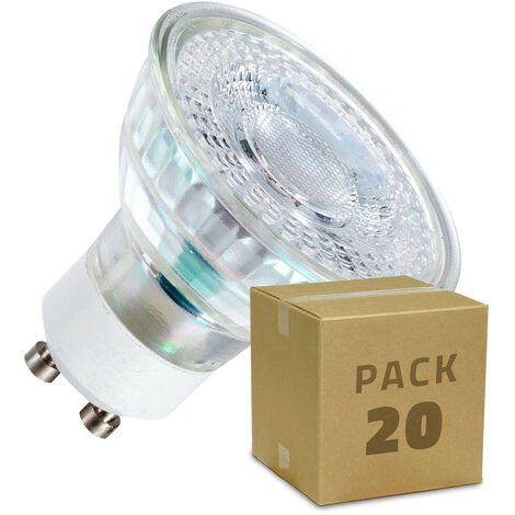 Pack Ampoules LED GU10 SMD Cristal 38º 7W (20 Un)