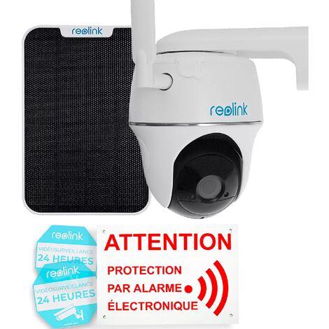 Pack anti-squat caméra 4G Reolink GO PT rotative 100% autonome sans fil panneau solaire / IP64 / Détecte, film, notifie